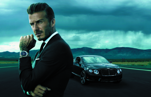 David Beckham - Breitling for Bentley - PRESS RELEASE