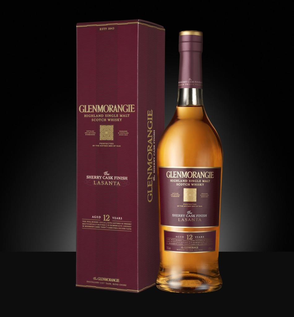 Glenmorangie Lasanta - Bottle and Box shot black background (Native) [MHISWF122792 Revision-1]